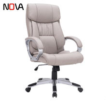 Office Executive Fabric And PVC Leather Swivel Task Chair