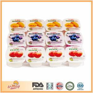 Bluberry Pfirsich Mango Pudding Assorted Obst Gelee Instant Pudding