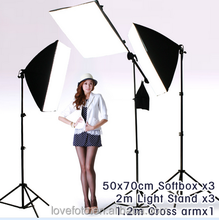Pro 450watt Photo studio Video Boom Arm Stand Softbox Light Kit light stand