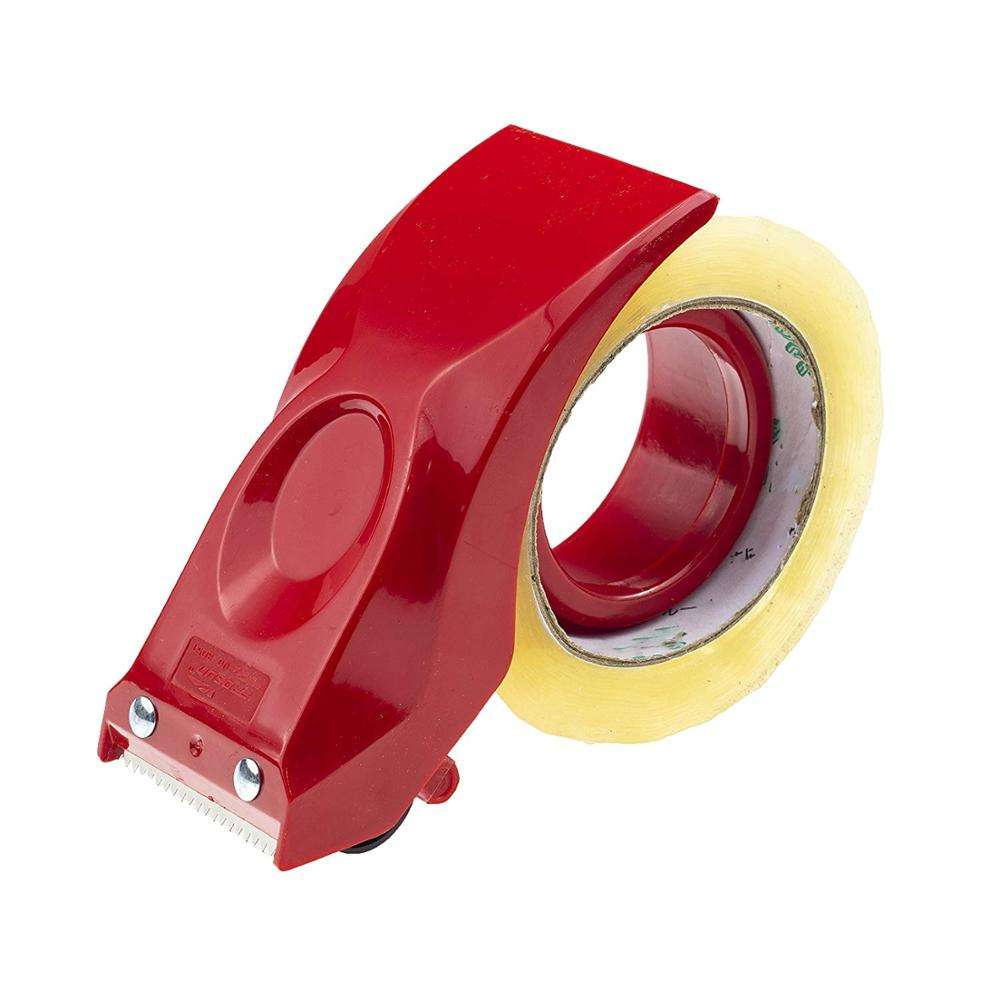2 Inch Tape Gun Dispenser Packing Packaging Sealing Cutter Red Handheld Warehouse Tools