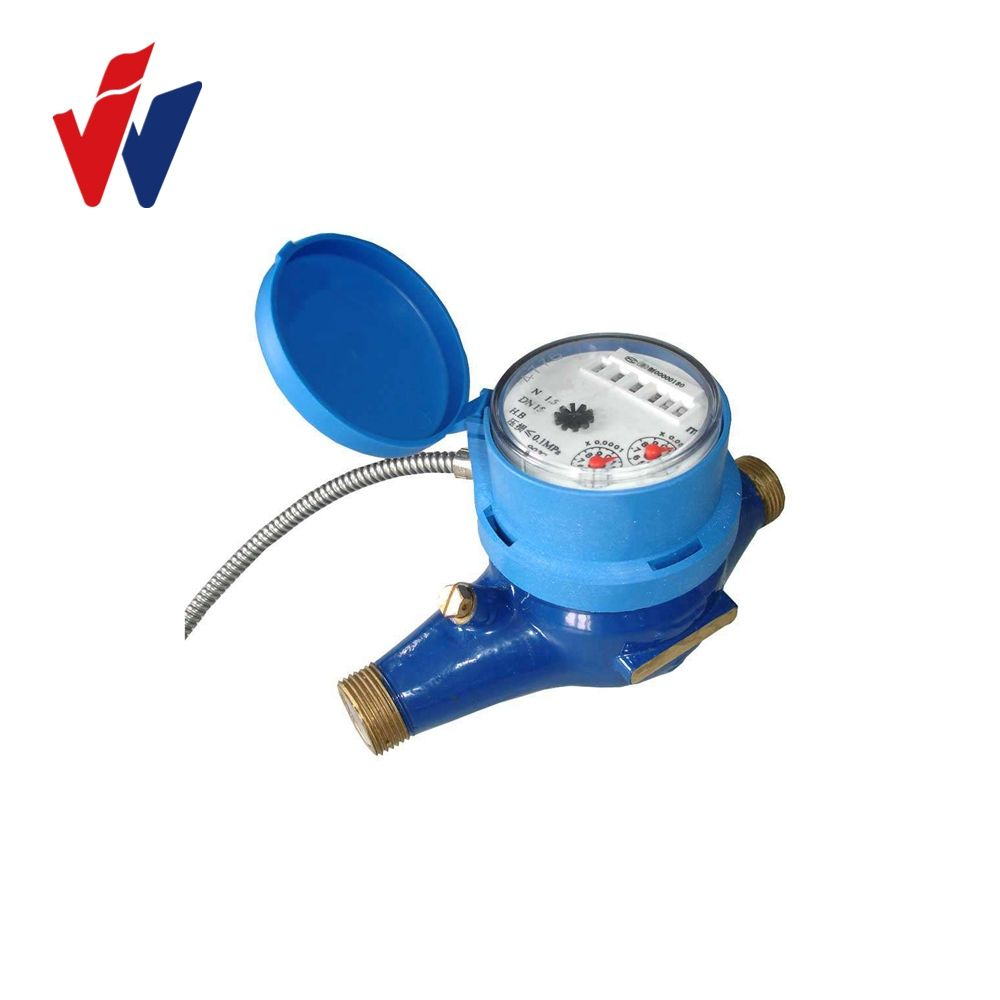 Brass IC Card Digital Modbus Water Meter with Pulse