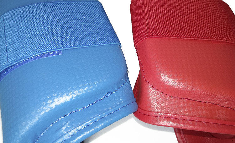 Shin Guard Karate Custom Red Blue Color PU Foam Karate Shin Instep Guard Protector