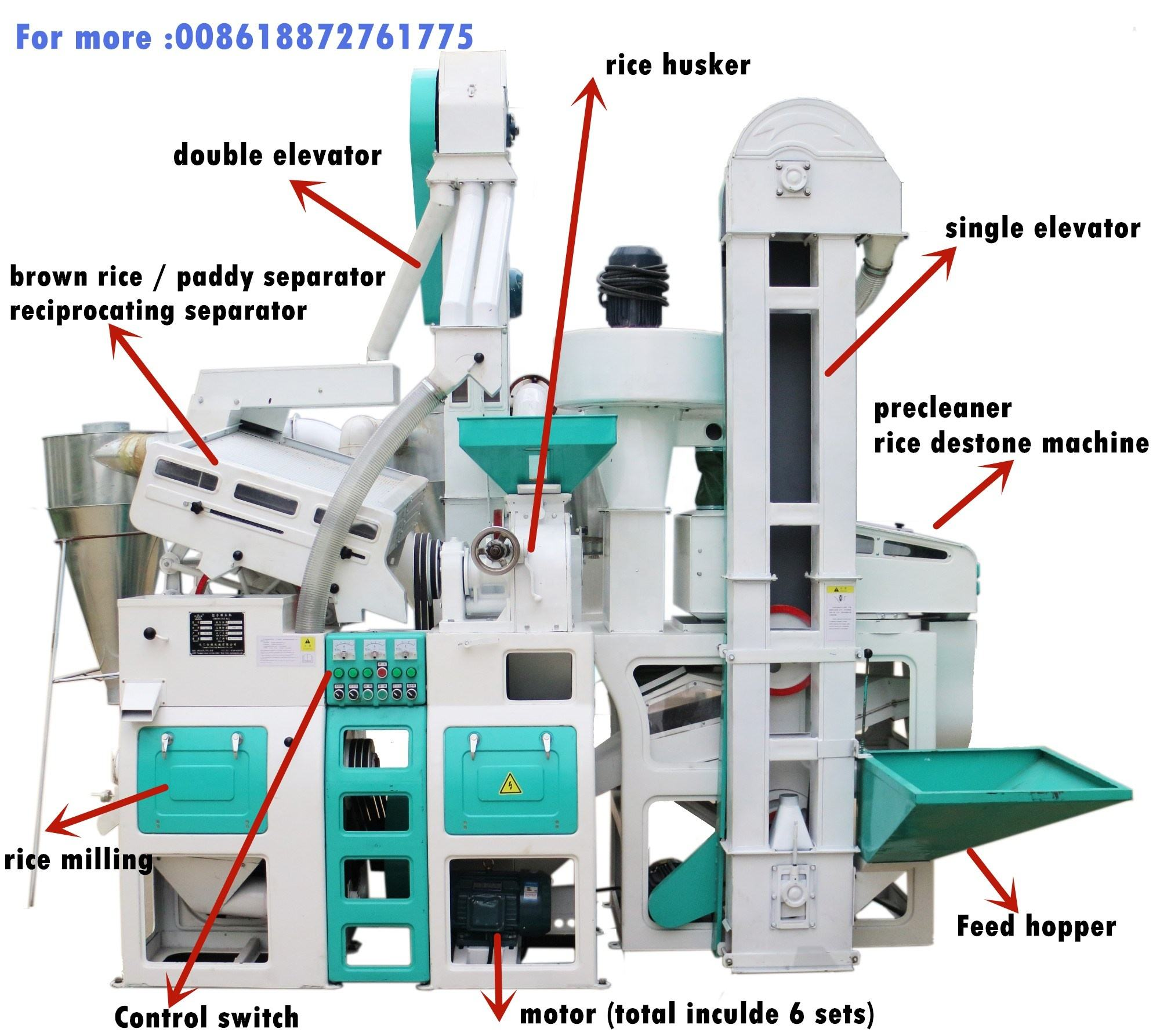 6LN-15/15SF 1T per hour mini rice mill rice mill machine machinery price in nepal india