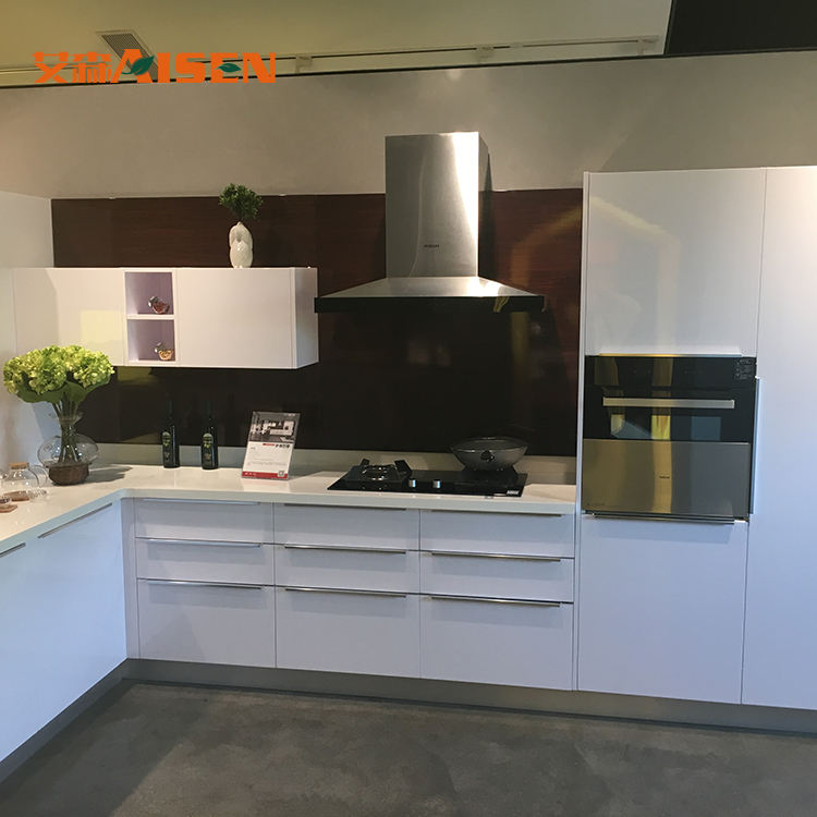 2020 modern MDF lacquer kitchen cabinet designs with marble/granite counter top full furniture set direct from China