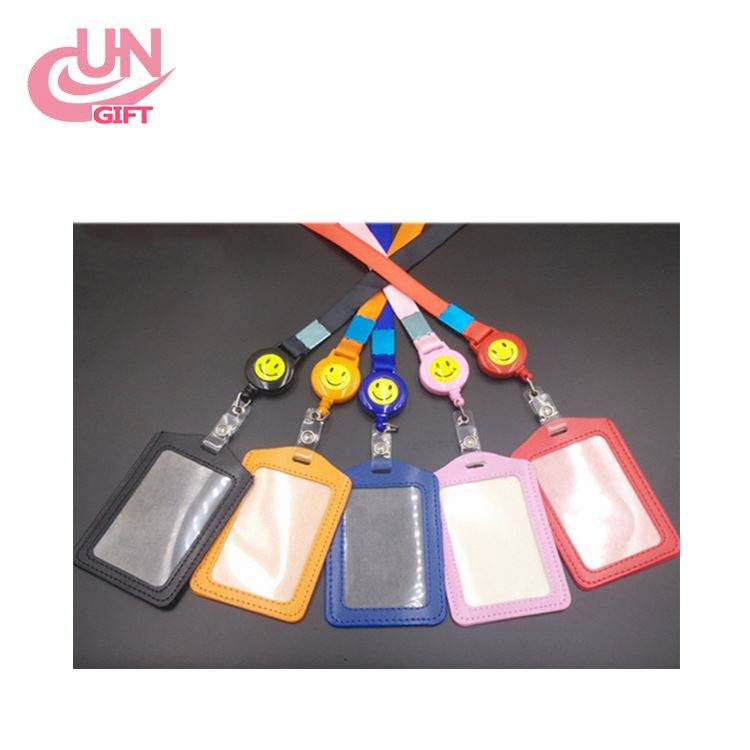 Colorful PU Card Holder Work Card Chest Card Set with Badge Reel
