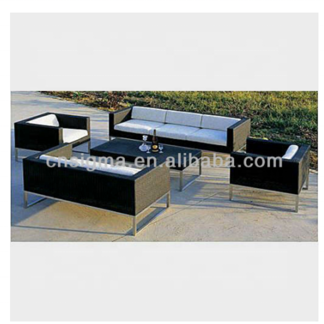 Hot Sale miami outdoor modern home furniture synthetic rattan garden furniture