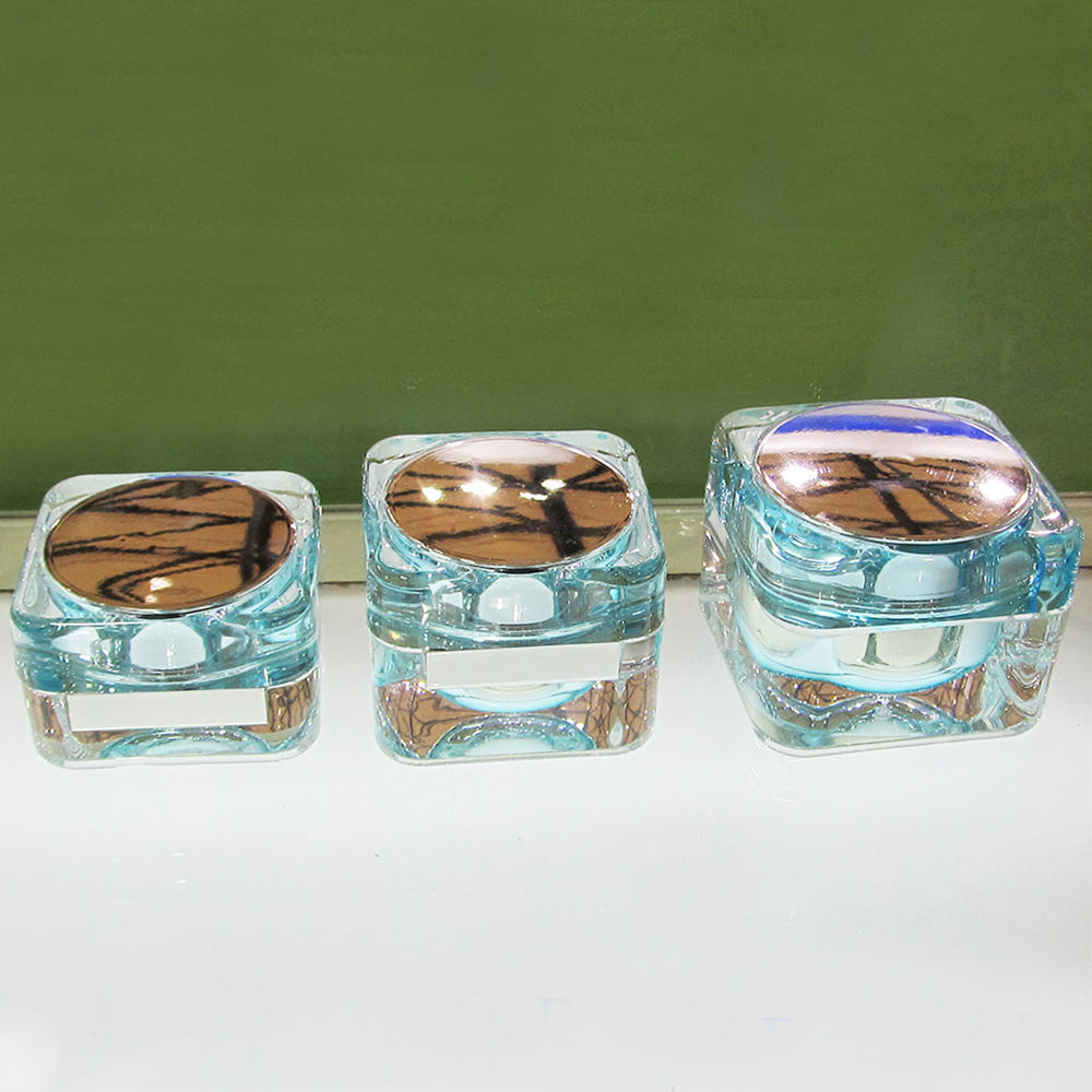 15g Clear Square Acrylic Cosmetic Cream Jar