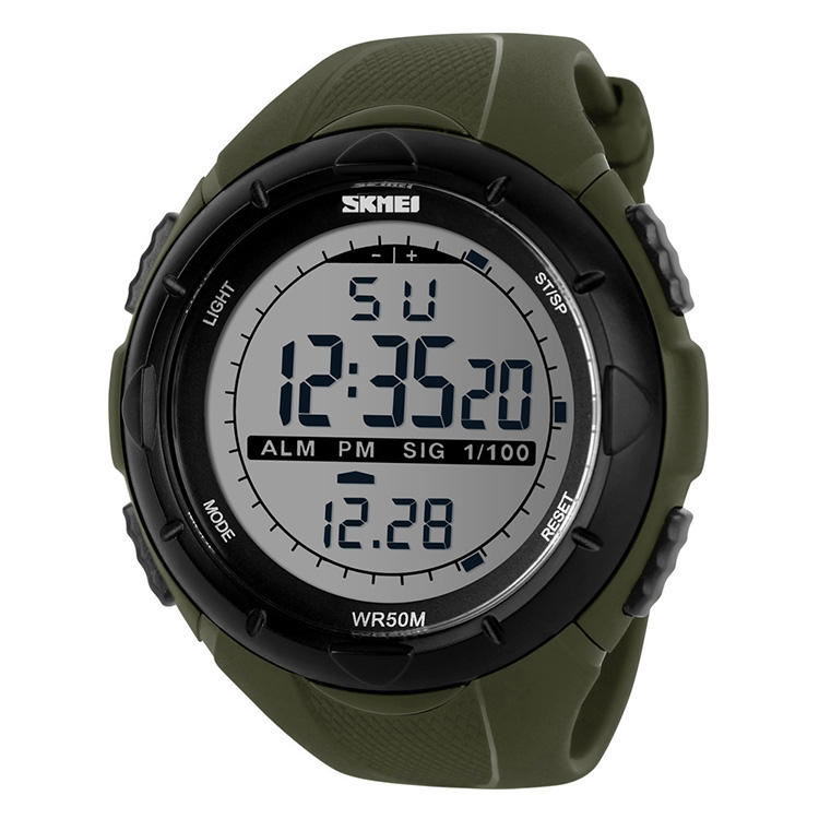 패션 wrist watch skmei 1025 물 저항하는 watch el backlight sport watch