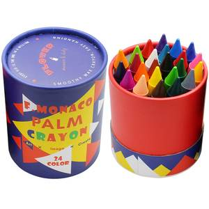 Flower Monaco 24 Pack Non Toxic Jumbo Crayons Easy to Hold Large Crayons for Toddler
