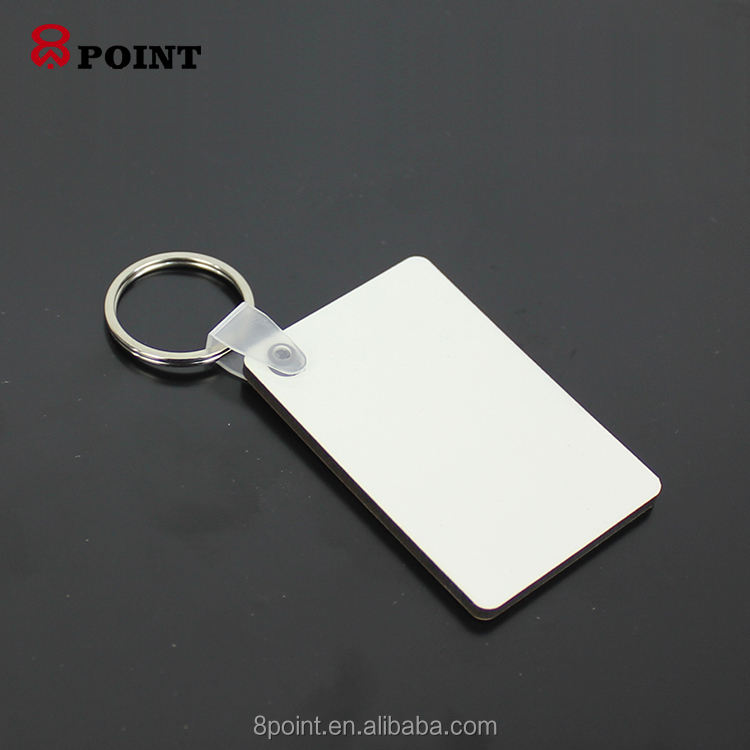 High Quality Customized Blank Sublimation rectangle Wood MDF Keychain