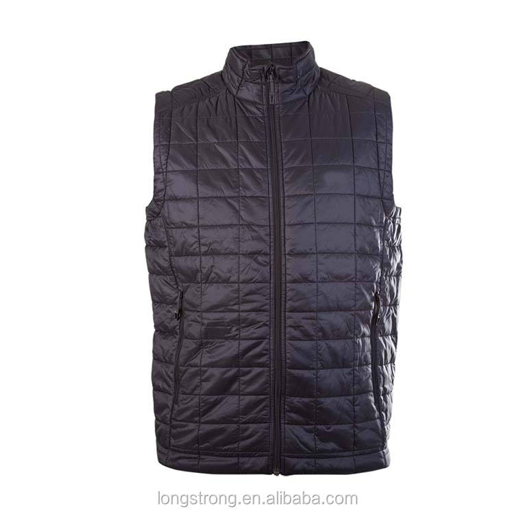 LS557 Wholesale Lightweight Winter Padding Mens Cotton Sleeveless Vest