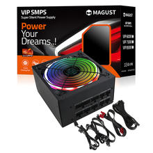 New design  gaming RGB 800w atx power supply modular  for pc