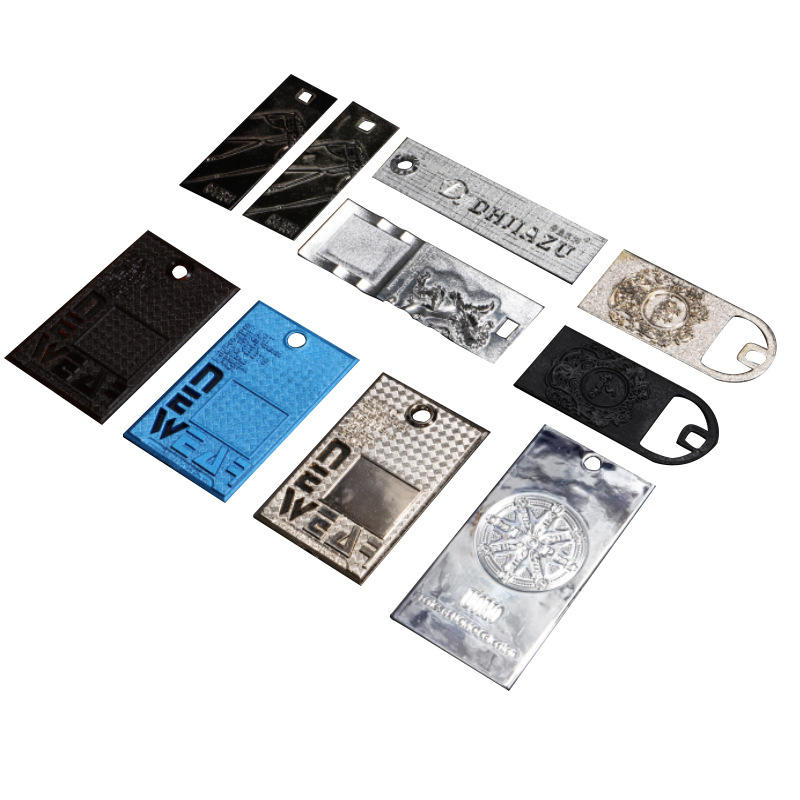 Waterproof Hang Tag Punch Your Logo Print Eco-friendly PVC Clothing Hangtag