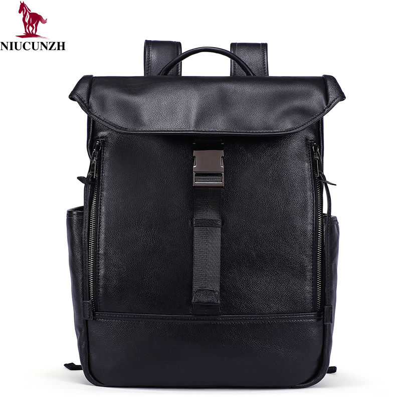 2019 Designer Genuine Leather Briefcase Backpack Custom Laptop Bag Travel Black Backpack swiss gear backpack wholesale