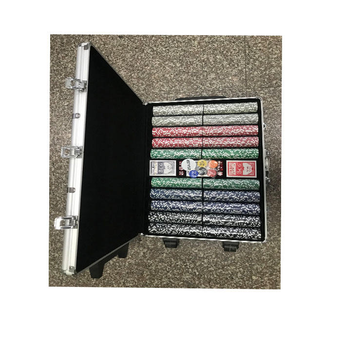 1000 개 poker 칩 set in aluminum case