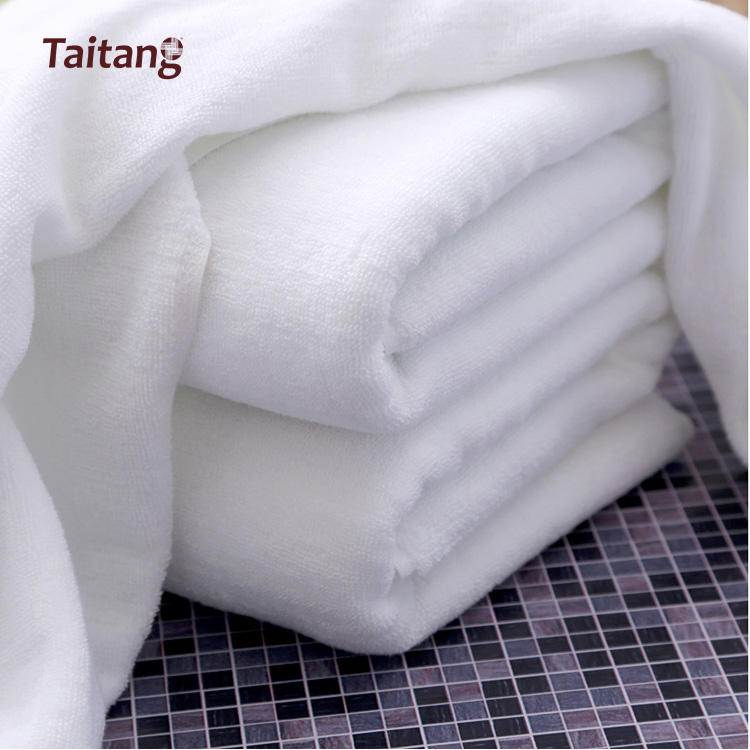 Factory Price Wholesales White Towel Extra Thick Cotton Bath Hotel Towel