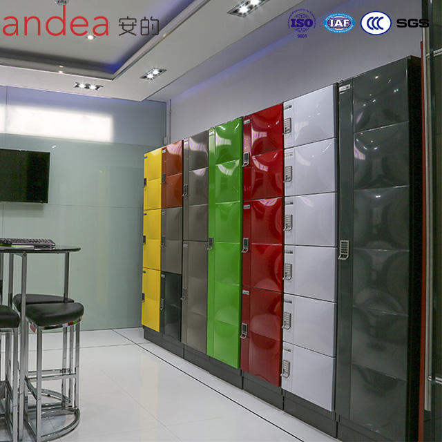 Andea Design Customized metal lockers cabinet with trendy modern application locks