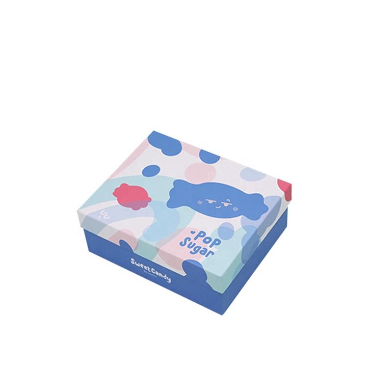 Elegant candy filling custom design hard paper box with apart cover