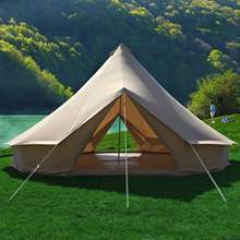 6M Double Door double wall bell tent cotton canvas polyester canvas