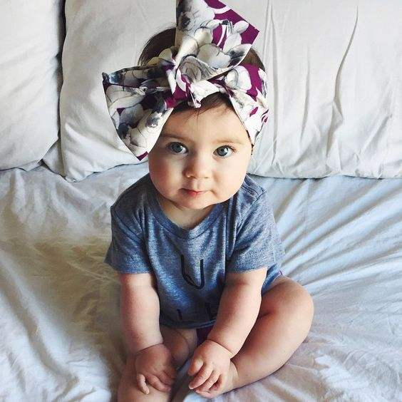 Fruit Pattern Big Bow Baby Headband Head Wrap