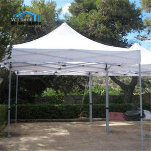 Wit vouwen tenten luifel aluminium opvouwbare luifel pop up display tent