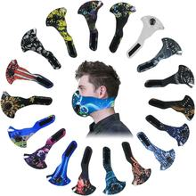 colorful animated carbon  anti dust neoprene face mask