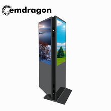"Indoor 32"" floor stand electronic double side dual  screen kiosk display advertising  lcd displays touch digital signage player"