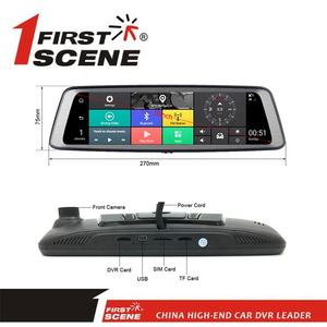 Firstscene 4G ADAS WIFI Rearview מראה מצלמה עם GPS Bluetooth פונקציה