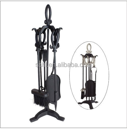 Fireplace accessories set fireplace tool with loop handle