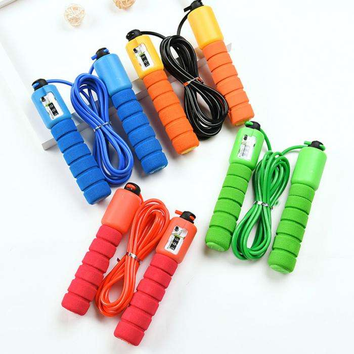 Sports Jump Ropes with Counter Sports Fitness Adjustable Fast Speed Counting Jump Skip Rope Skipping Wire
