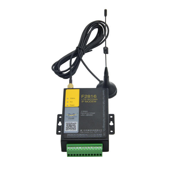 F2816 IOT Công Nghiệp Gsm Gprs 4G DTU/Sms LTE IP <span class=keywords><strong>Modem</strong></span> Với Rs323 Rs485 <span class=keywords><strong>Cổng</strong></span> Nối Tiếp