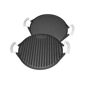 Ronde Custom Gietijzer Camping Grill Pan BBQ Plaat/Barbecue
