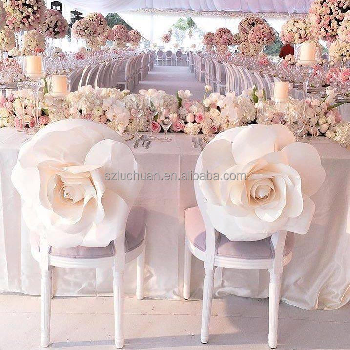 Fancy Romantic Wedding Chair Cover Sashes Flower