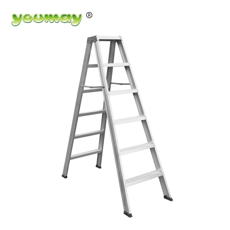 2020 For sale professional 6 step double-side aluminium ladder best to use