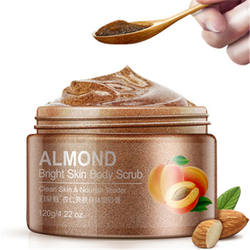 OEM BIOAQUA wholesale moisturizing skin care deep cleansing Exfoliator almond coffee color Body Scrub