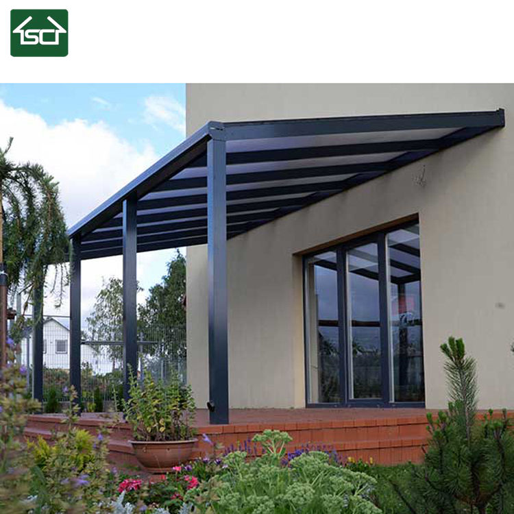 Modern Aluminum Polycarbonate Balcony Patio Cover with pergola roof system
