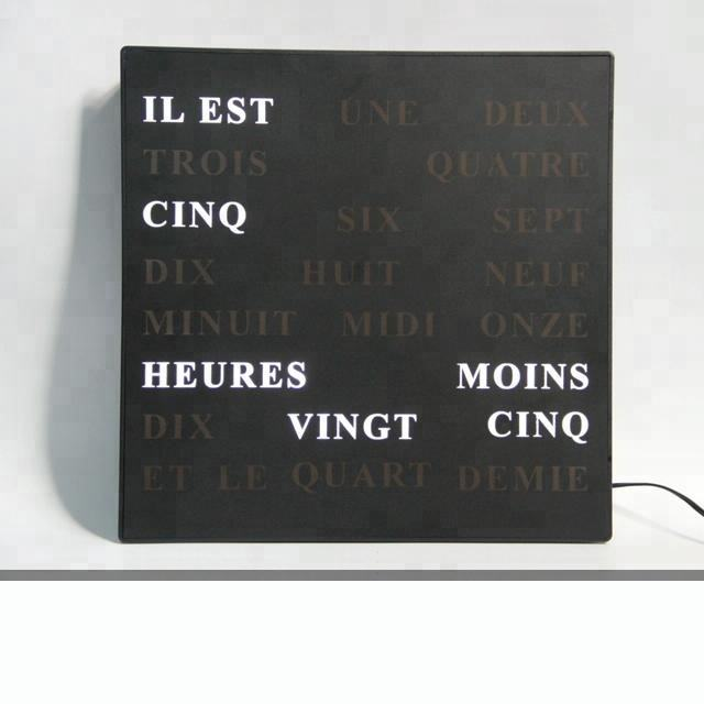 Home Decor Decorative Wall Clock 5V Tell Time With Words French German English