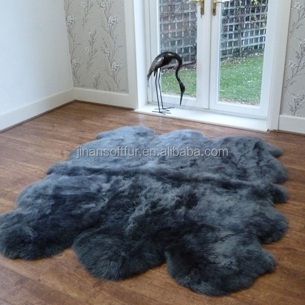 Long Hair Sheepskin Area Shag Rug