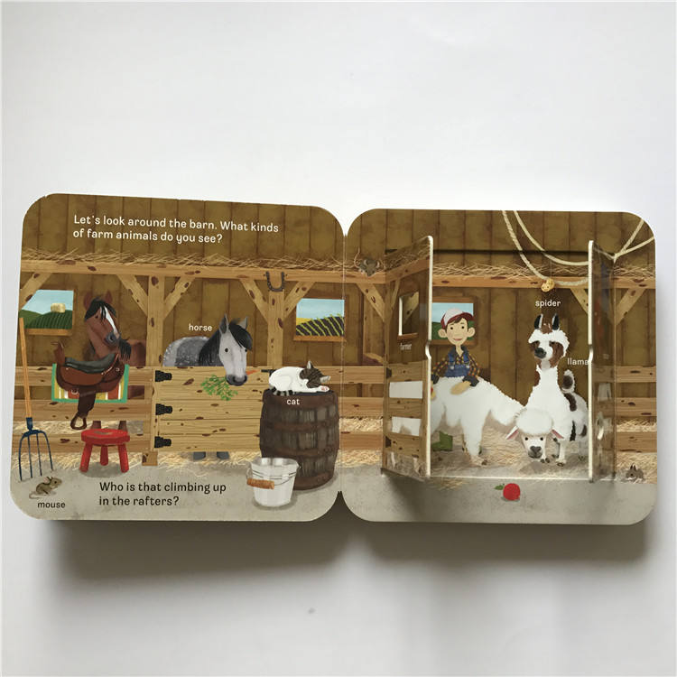 China Manufacturer Custom Pop-up English Funny Story Die Cut Children Book For Sale
