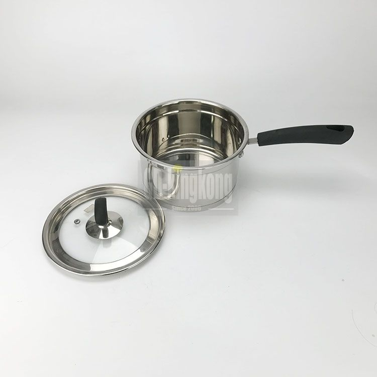 guangdong kingkong manufacturer 3 layer korean style Multi-Purpose capsule bottom stainless Steel Stock Pots with lid