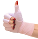 Fingerless pink compression gloves cotton gloves Manicure gloves