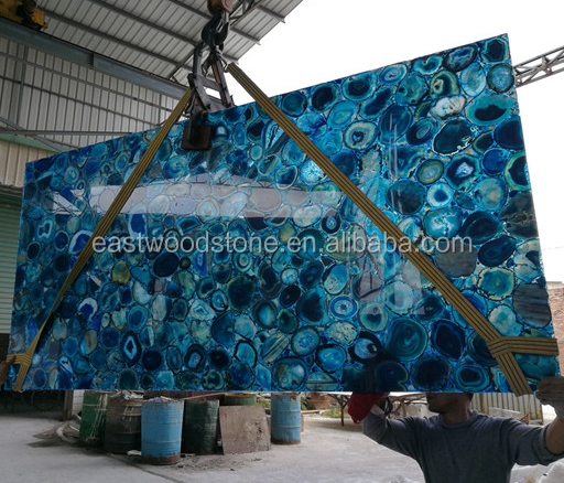 natural agate blue agate tile slabs