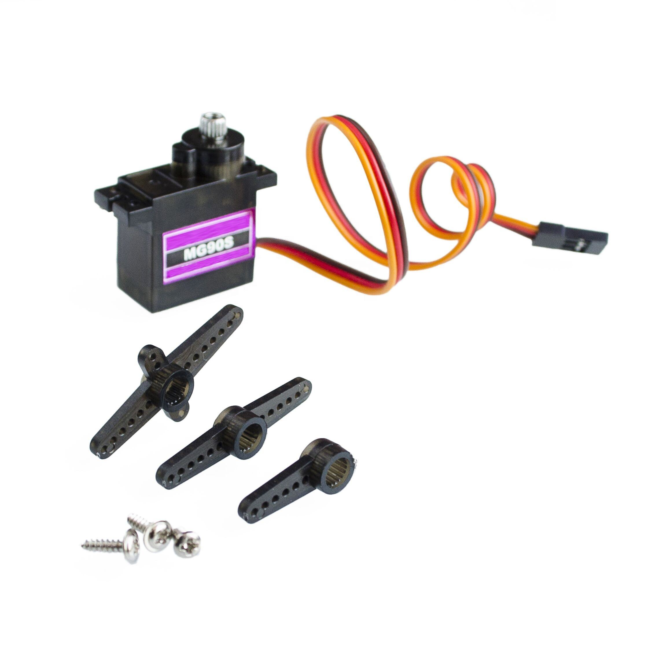 MG90S Metal Geared Micro Tower Pro Servo voor Speelgoed Boot Auto Vliegtuig Helicopter
