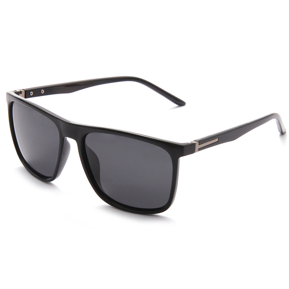Good Quality Factory Wholesale Women Men Wear Full Rim Black Lens Polarized UV 400 Sunglasses
