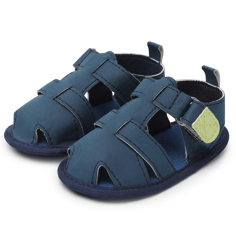 summer kids shoes brand closed toe toddler boys sandals orthopedic sport pu leather baby boys sandals shoes for 0-18 months