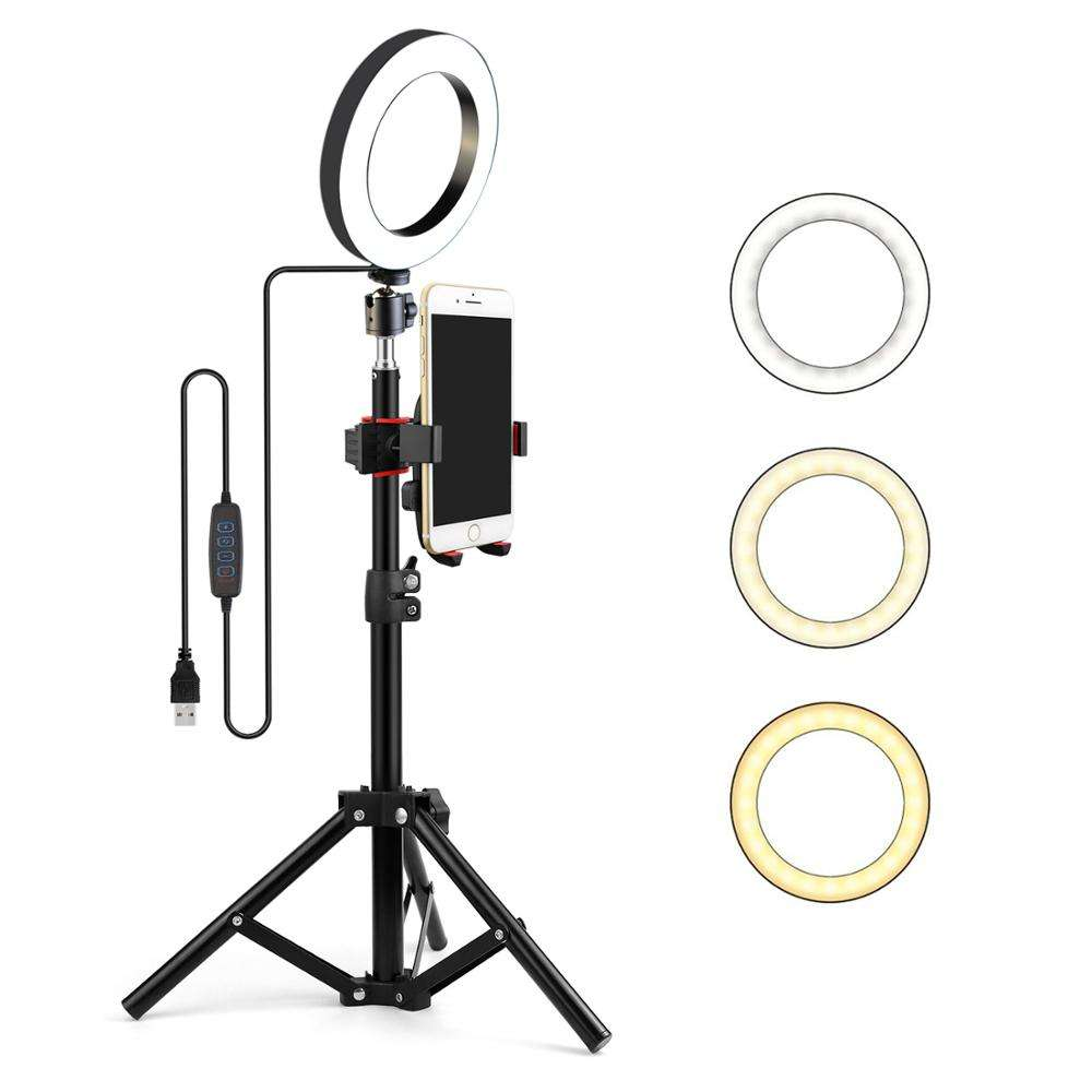 Hot Selling Studio Lighting Kit 6 inch Flash Ring Light Stand for Phone