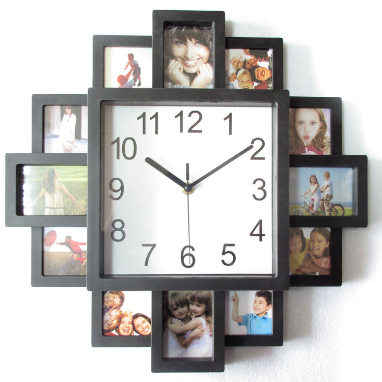 16 polegadas DIY Photo Frame Relógio Modern Home Decor Pictures Art Relógios De Plástico
