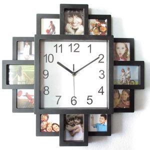 16 Inch DIY Photo Frame Clock Modern Home Decor Pictures Art Plastic Clocks