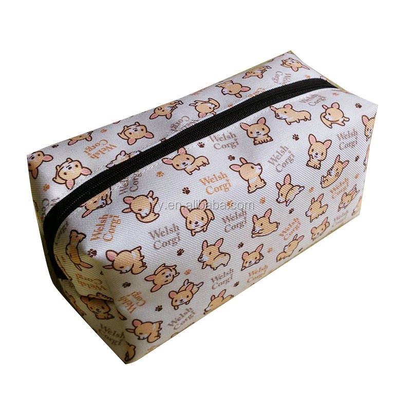 Pencil Bag Office School Custom Print Pencil Bag Splash Proof Zipper Bag