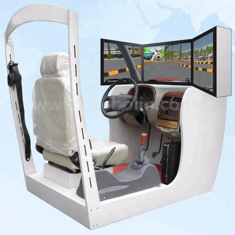3 Screen driving school car training simulator good price